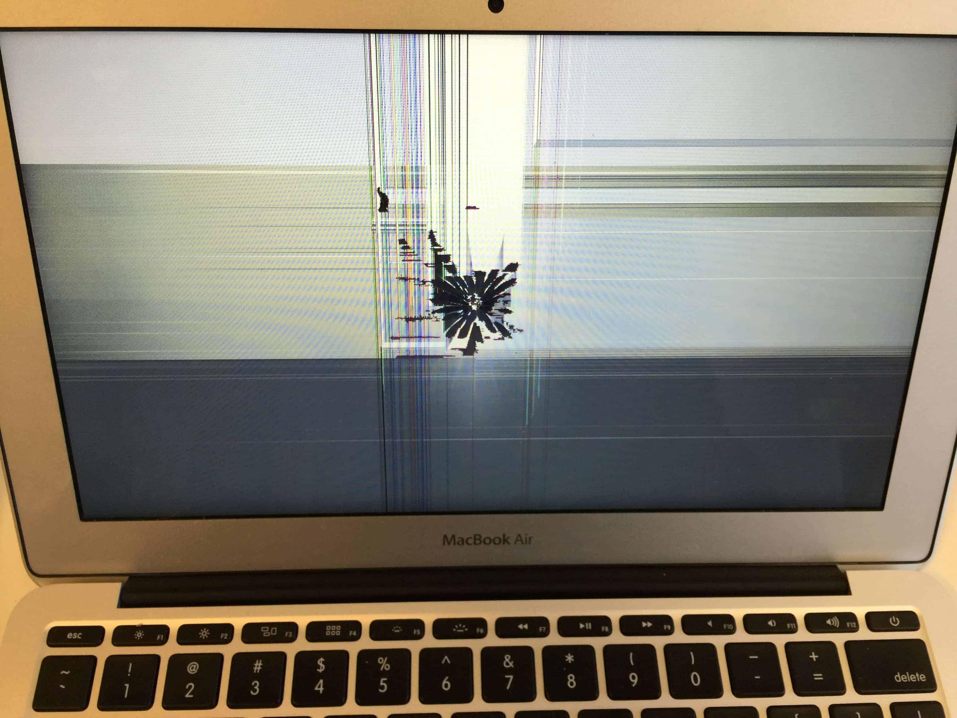 macbook air with backlight blemish after repair   mac